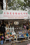Dongtai Lu antique market in Shanghai, China
