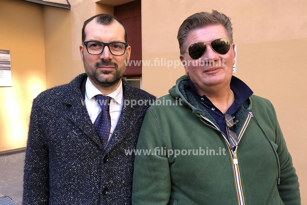 DA SX AVVOCATO DENIS LOVISON E MARCO RAVAGLIA<br /> UDIENZA PROCESSO IGOR VACLAVIC NORBERT FEHER BOLOGNA