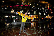 A Borussia Dortmund fan from Edinburgh before the UEFA Champions League match against Arsenal at the Emirates Stadium, London<br /> Picture by Richard Calver/Focus Images Ltd +447792 981244<br /> 26/11/2014