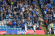 The home fans watch after Gillingham score  during the EFL Sky Bet League 1 match between Gillingham and Coventry City at the MEMS Priestfield Stadium, Gillingham, England on 25 August 2018.