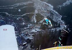 17.03.2012, Planica, Kranjska Gora, SLO, FIS Ski Sprung Weltcup, Team Skifliegen, im Bild ein Feature mit einem Vorspringer,  during the FIS Skijumping Worldcup Flying Hill Team, at Planica, Kranjska Gora, Slovenia on 2012/03/17. EXPA © 2012, PhotoCredit: EXPA/ Oskar Hoeher.