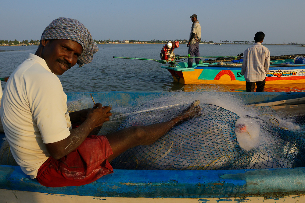 Fishermen, Pulicat Lake, Tamil Nadu, India