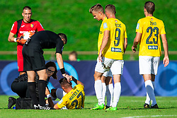 Physiotherapist Eva Globokar and Aljoša Matko of Bravo during football match between NK Bravo and NK Celje in 13th Round of Prva liga Telekom Slovenije 2019/20, on October 5, 2019 in ZAK stadium, Ljubljana, Slovenia. Photo by Vid Ponikvar / Sportida