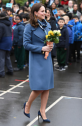 The Duchess of Cambridge visits Roe Green Junior School to launch a new programme to support Children\'s Mental Health at School, in Brent, London, UK, on the 23rd January 2018. 23 Jan 2018 Pictured: The Duchess of Cambridge visits Roe Green Junior School to launch a new programme to support Children\'s Mental Health at School, in Brent, London, UK, on the 23rd January 2018. Photo credit: James Whatling / MEGA TheMegaAgency.com +1 888 505 6342