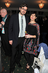 LOUIS THEROUX and NANCY STRANG at a dinner in aid of the charity Save The Rhino held at ZSL London Zoo, Regents Park, London NW1 on 16th November 2011.