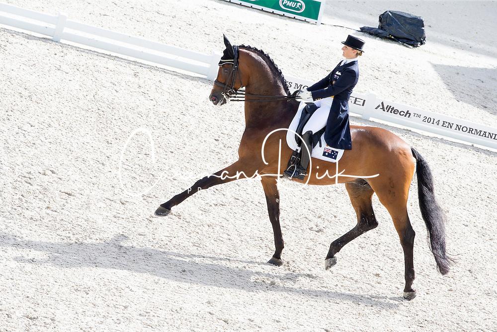 Kristy Oatley, (AUS), Ronan 2 - Grand Prix Team Competition Dressage - Alltech FEI World Equestrian Games&trade; 2014 - Normandy, France.<br /> &copy; Hippo Foto Team - Leanjo de Koster<br /> 25/06/14