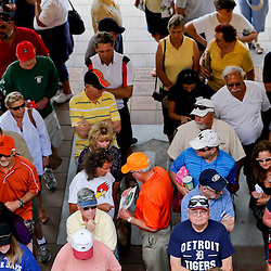 Feb 23, 2013; Lakeland, FL, USA; Detroit Tigers fans wait to enter prior to a spring training game against the Toronto Blue Jays at Joker Marchant Stadium. Mandatory Credit: Derick E. Hingle-USA TODAY Sports