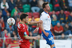 September 17, 2017 - Oostende, BELGIUM - Oostende's Aleksandar Bjelica and Gent's Brecht Dejaegere fight for the ball during the Jupiler Pro League match between KV Oostende and KAA Gent, in Oostende, Sunday 17 September 2017, on the seventh day of the Jupiler Pro League, the Belgian soccer championship season 2017-2018. BELGA PHOTO KURT DESPLENTER (Credit Image: © Kurt Desplenter/Belga via ZUMA Press)