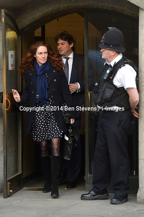 Rebekah Brooks and Charlie Brooks leave The Old Bailey, London, UK, after the phone hacking trial on<br /> Wednesday, 5th March 2014. Picture by Ben Stevens / i-Images