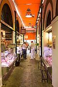 Stalls in Barrio Macerana market, Seville, Spain