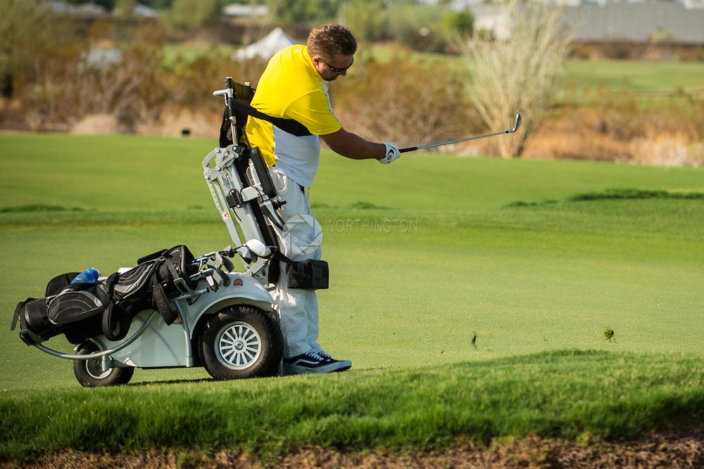 Golfer Using Wheelchair