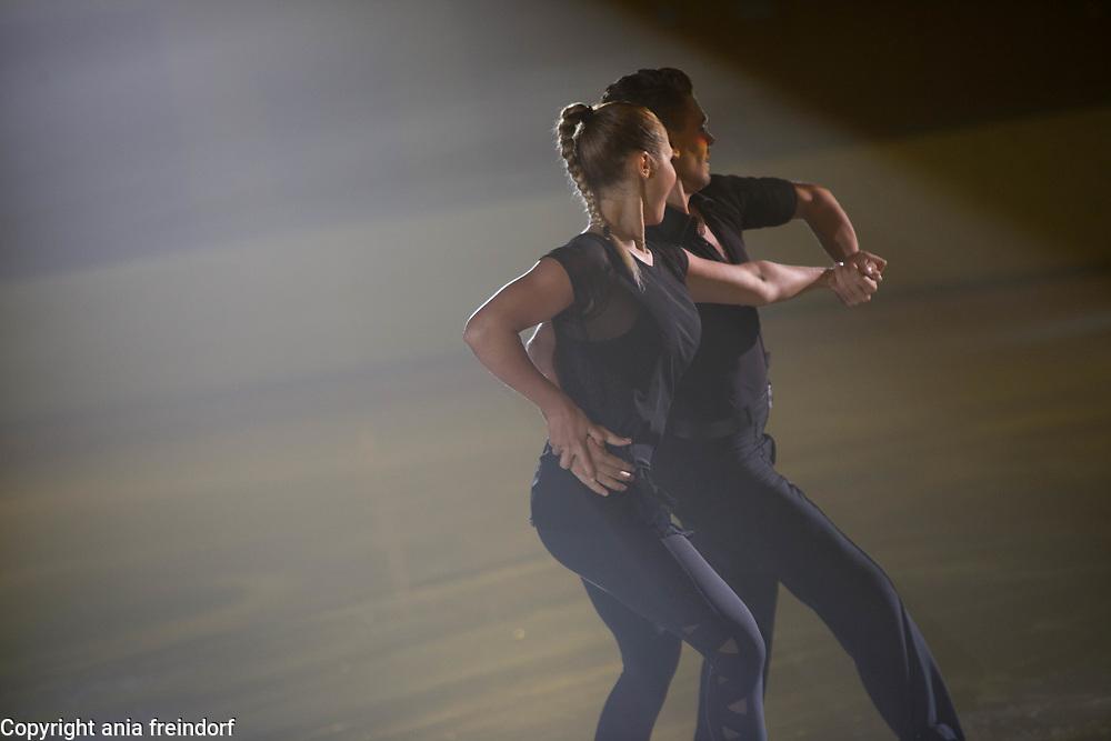 International Ice Skating Gala, Courchevel, France, 20 July 2017, Carolina Moscheri, Andrea Fabbri, Members of National Team, Italy