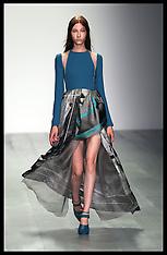 SEP 14 2014 Marios Schwab show at London Fashion Week- Spring-Summer 15 140914