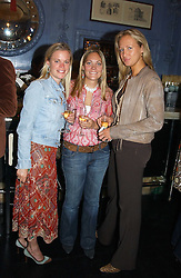 Left to right, LADY LUCINDA SAVILLE, VICKY LEE and KATIE TURNER at a fashion show with designs by Irish designer Louise Kennedy held in the Blue Bar, Berkeley Hotel, London on 12th May 2005.<br /><br />NON EXCLUSIVE - WORLD RIGHTS