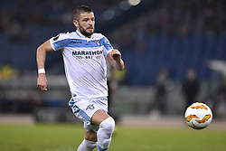 November 8, 2018 - Rome, Rome, Italy - Valon Berisha of Lazio during the UEFA Europa League Group Stage match between Lazio and Olympique de Marseille at Stadio Olimpico, Rome, Italy on 8 November 2018. (Credit Image: © Giuseppe Maffia/NurPhoto via ZUMA Press)