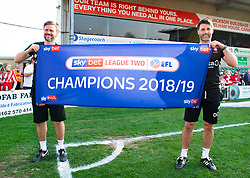 Lincoln City manager Danny Cowley and Lincoln City Assistant manger  Nicky Cowley  - Mandatory by-line: Alex James/JMP - 22/04/2019 - FOOTBALL - Sincil Bank Stadium - Lincoln, England - Lincoln City v Tranmere Rovers - Sky Bet League Two