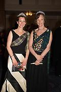 LADY LOUISE BURRELL; IONA DUCHESS OF ARGYLL, The Royal Caledonian Ball 2017, Grosvenor House, 29 April 2017