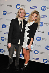 CHELSEA LEYLAND and DOMINIC JONES at the Warner Music Group Post Brit Awards Party in Association with Samsung held at The Savoy, London on 20th February 2013.