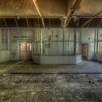 An abandoned care home for kids in East Germany<br /> Kitchen