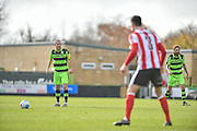 Forest Green Rovers Midfielder, Liam Noble (15) ready to take a free kick during the Vanarama National League match between Forest Green Rovers and Lincoln City at the New Lawn, Forest Green, United Kingdom on 19 November 2016. Photo by Adam Rivers.