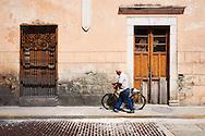 History crumbles from the colonial facades of Mérida, México.