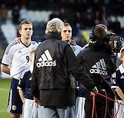 Jordan Rhodes and Liam Kelly during national anthem - Scotland v Holland - UEFA U21 European Championship qualifier at St Mirren Park..© David Young - .5 Foundry Place - .Monifieth - .Angus - .DD5 4BB - .Tel: 07765 252616 - .email: davidyoungphoto@gmail.com.web: www.davidyoungphoto.co.uk