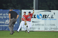 Mississippi's Braxton Lee (11) makes a catch vs. Louisiana-Lafayette in an NCAA Super Regional game in Lafayette, La. on Sunday, June 8, 2014. Mississippi won 5-2.
