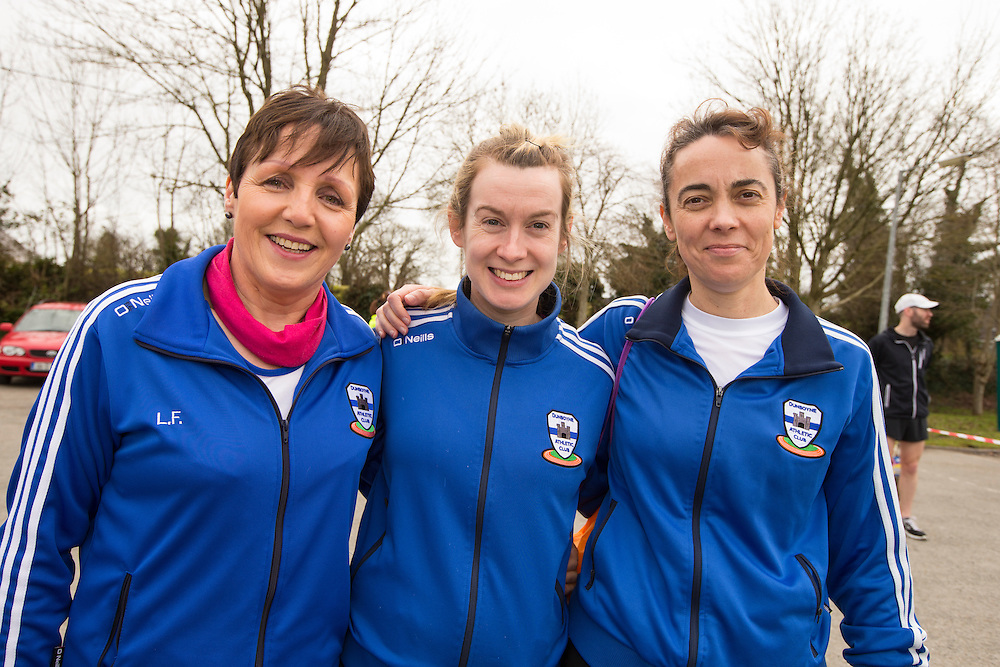 Bohermeen AC 10km & Half Marathon Road Races, 12th March 2016<br /> Pictured at the Bohermeen AC 10km & Half Marathon Road Races: L-R, Lauren Flood, Claire Ni Fhaircheallaibh, Geraldine Fagan (Dunboyne)<br /> Photo: David Mullen /www.cyberimages.net / 2016
