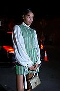 Laura Harrier at Louis Vuitton's Volez Voguez Voyagez NYC