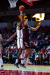 NORMAL, IL - January 07: Gaige Prim defended by Keith Fisher III during a college basketball game between the ISU Redbirds and the University of Missouri State Bears on January 07 2020 at Redbird Arena in Normal, IL. (Photo by Alan Look)
