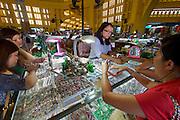 Phnom Penh, Cambodia. Central Market. Jewelry.