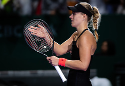 October 24, 2018 - SINGAPORE - Angelique Kerber of Germany in action during her second match at the 2018 WTA Finals tennis tournament (Credit Image: © AFP7 via ZUMA Wire)