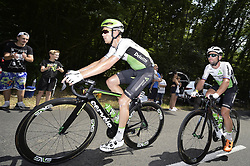 July 14, 2018 - Amiens Metropole, FRANCE - Belgian Julien Vermote of Dimension Data and British Mark Cavendish of Dimension Data pictured in action during the eighth stage of the 105th edition of the Tour de France cycling race, from Dreux to Amiens Metropole (181 km), in France, Saturday 14 July 2018. This year's Tour de France takes place from July 7th to July 29th. BELGA PHOTO YORICK JANSENS (Credit Image: © Yorick Jansens/Belga via ZUMA Press)
