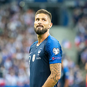 PARIS, FRANCE - September 10:  Olivier Giroud #9 of France during the France V Andorra, UEFA European Championship 2020 Qualifying match at Stade de France on September 10th 2019 in Paris, France (Photo by Tim Clayton/Corbis via Getty Images)