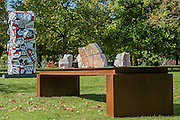 Mikayel Ohanjanyan, Senza Titolo, 2016, <br /> Tornabuoni Art and Jean Dubuffet,<br /> Tour aux récits, (after maquette dated 19 July 1973) 1973,<br /> Waddington Custot Galleries - The Frieze Sculpture Park 2016 comprises 19 large-scale works, set in the English Gardens between Frieze Masters and Frieze London. Selected by Clare Lilley (Yorkshire Sculpture Park), the Frieze Sculpture Park will feature 19 major artists including Conrad Shawcross, Claus Oldenburg, Nairy Baghramian, Ed Herring, Goshka Macuga and Lynn Chadwick. The installations will remain on view until 8 January 2017.