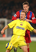 Fotball<br /> England 2004/2005<br /> Foto: SBI/Digitalsport<br /> NORWAY ONLY<br /> <br /> Barclays Premiership<br /> Crystal Palace v Charlton Athletic<br /> 5/12/2004<br /> <br /> Palace's Danny Granville and Charlton's Dennis Rommedahl