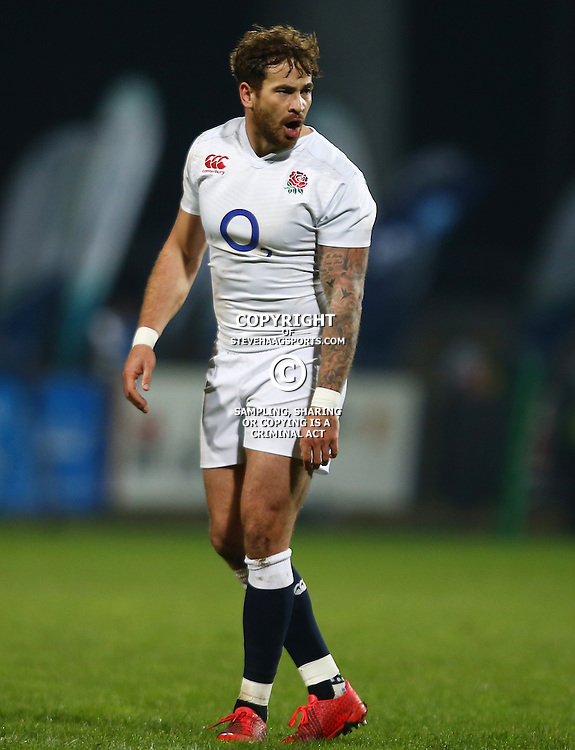 "George, SOUTH AFRICA, 17,June, 2016 - Danny Cipriani of the England Saxons during the South Africa ""A"" v England Saxons - 2nd match,Outeniqua Park in George,Southern Cape  South Africa (Photo by Steve Haag) - Images for Getty Images  - England Saxons."