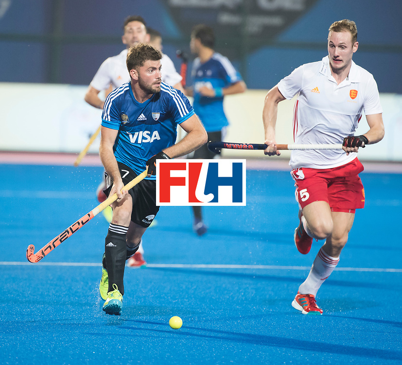 Odisha Men's Hockey World League Final Bhubaneswar 2017<br /> Match id:14<br /> England v Argentina , Quater Final<br /> Foto:  Alan Andino (Arg) met David Ames (Eng) <br /> WSP COPYRIGHT KOEN SUYK