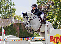 Sprangridning<br /> 26.06.2015<br /> Foto: imago/Digitalsport<br /> NORWAY ONLY<br /> <br /> Show Jumping - 2015 The Equestrian.Com, Hickstead Derby Meeting, Victoria Gulliksen riding Bokai at The All England Jumping Club, Hickstead