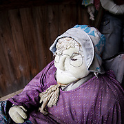 MIYOSHI, JAPAN - JULY 9 :  Hand-made dolls are are placed around the village made by local resident Tsukimi Ayano to replace the departed on July 9, 2015 in Nagoro village, Miyoshi, Japan. Nagoro is a slowly shrinking village located in the valleys of Shikoku, Japan. According to Japan's Statistic Bureau, the percentage of people over 65 years old in Japan is 26.8% while that of the the world is 8.2%. The National Institute of Population and Social Security Research in Tokyo, Japan's population, now around 128 million, is expected to dip below 100 million in 2046.<br /> <br /> Photo: Richard Atrero de Guzman