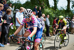 Dalia Muccioli (ITA) approaches the top of the second categorised climb at OVO Energy Women's Tour 2018 - Stage 2, a 145 km road race from Rushden to Daventry, United Kingdom on June 14, 2018. Photo by Sean Robinson/velofocus.com