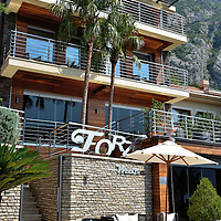 Hotel Forza Mare in Dobrota, Montenegro<br /> Most of the accommodations outside of Kotor in the neighboring town of Dobrota are small holiday apartments. The exception is the Forza Mare, the only five-star hotel along the eastern shores of Boka Bay. Each room is named after the country that inspired its décor such as China, Africa, India and Japan. Or perhaps you'd prefer the Dubai suite.