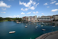 Boats float on the water in the harbor area of the Loews Portofino Bay Hotel at Universal Orlando in Orlando, Fla., Wednesday, May 3, 2017. (Phelan M. Ebenhack via AP)