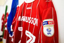 Shirts of Hordur Magnusson hang in the Bristol City dressing room - Rogan/JMP - 18/11/2017 - Hillsborough Stadium - Sheffield, England - Sheffield Wednesday v Bristol City - Sky Bet Championship.