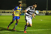Forest Green Rovers Kieffer Moore(14) on the ball during the Vanarama National League match between Solihull Moors and Forest Green Rovers at the Automated Technology Group Stadium, Solihull, United Kingdom on 25 October 2016. Photo by Shane Healey.