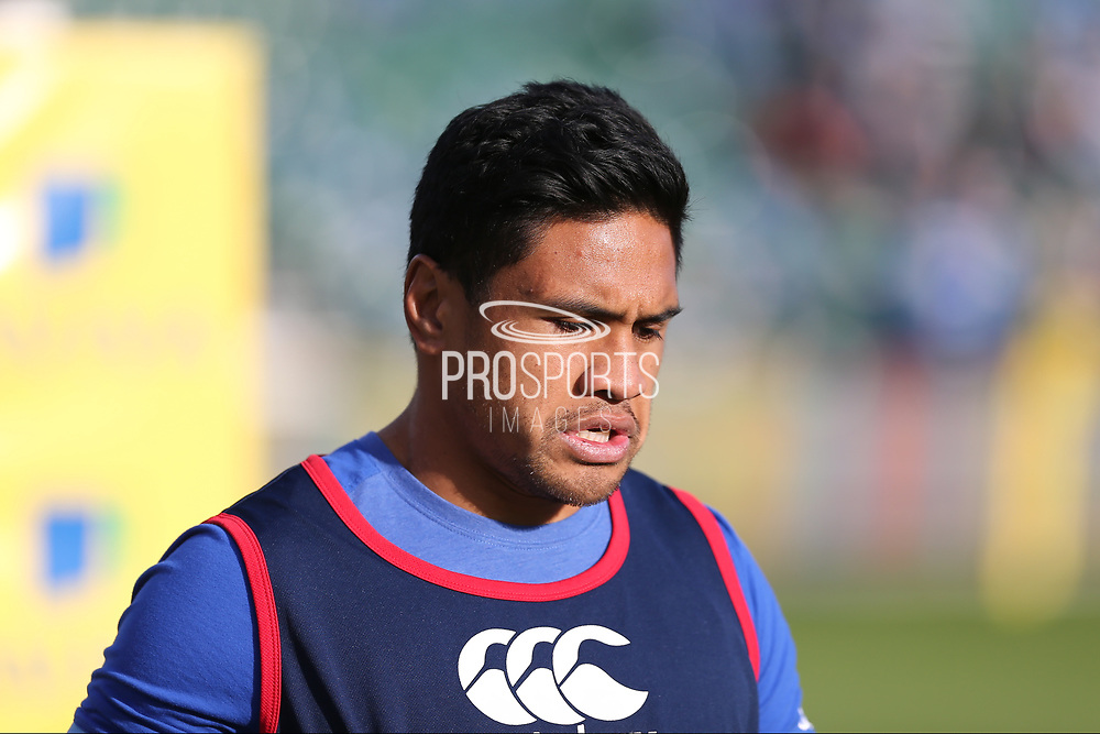 Bath Ben Tapuai warming up before  the Aviva Premiership match between Bath Rugby and Gloucester Rugby at the Recreation Ground, Bath, United Kingdom on 29 October 2017. Photo by Gary Learmonth.