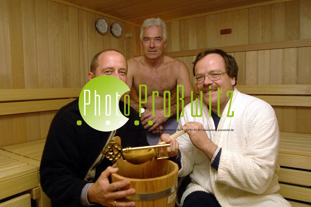 Mannheim. Sportst&auml;tte der UNI MA. Er&ouml;ffnung eienr Sauna<br /> <br /> Bild: Pro&szlig;witz