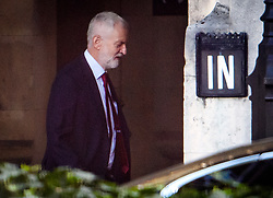 © Licensed to London News Pictures. 04/09/2019. London, UK. Labour Party leader JEREMY CORBYN is seen at the Houses of Parliament in Westminster, London. British Prime Minister Boris Johnson has a called for a general election after losing his first commons vote and losing his majority, removing his control of parliament. Photo credit: Ben Cawthra/LNP