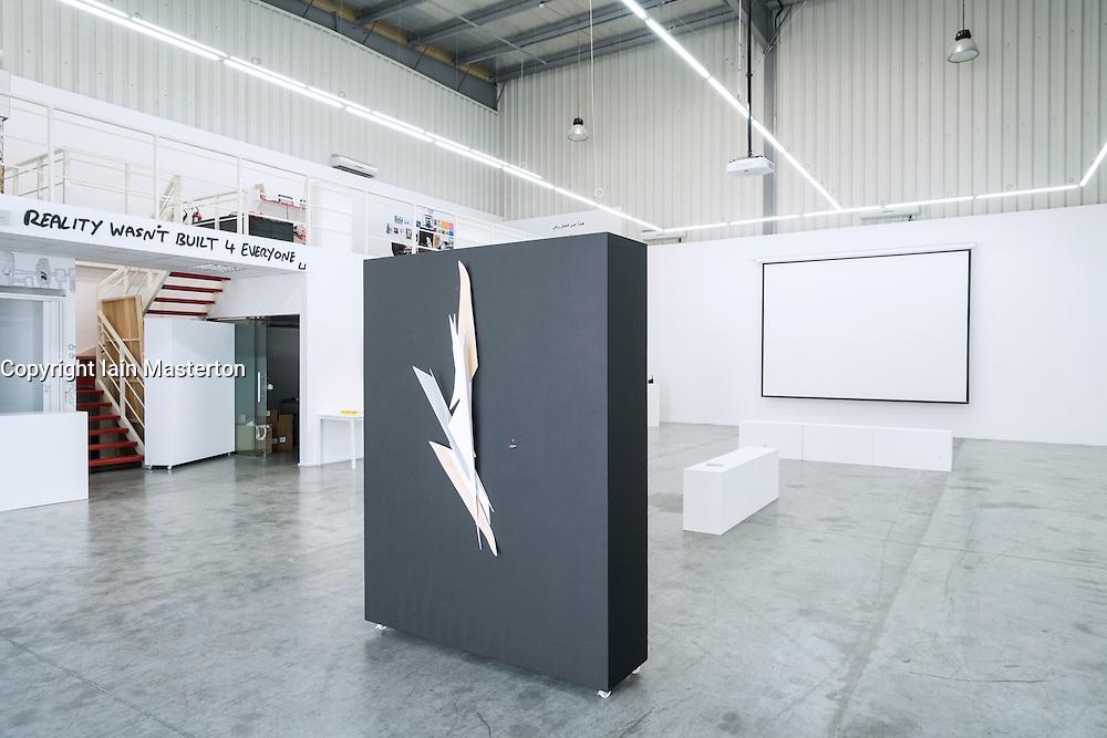 FN Designs art gallery at Alserkal Avenue warehouses in Al Quoz district in Dubai United Arab Emirates