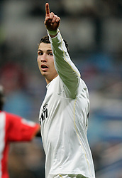 Real Madrid's Cristiano Ronaldo gestures during La Liga match, November 05, 2009.